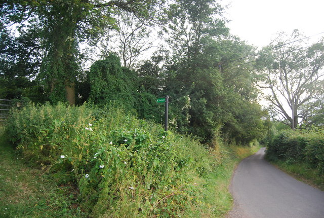 Footpath off the lane at Sharp's Place
