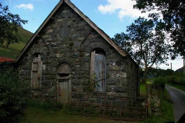 Derelict chapel, Cwm Cywarch