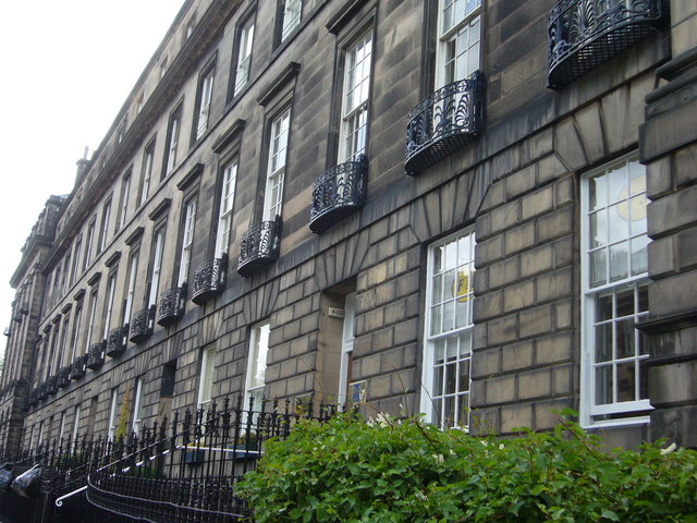 Iron balconies, Great Stuart Street