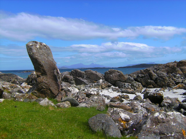 Standing stone at Port Mackie