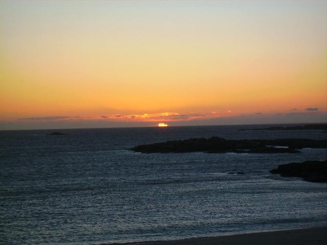 Westerly sundown
