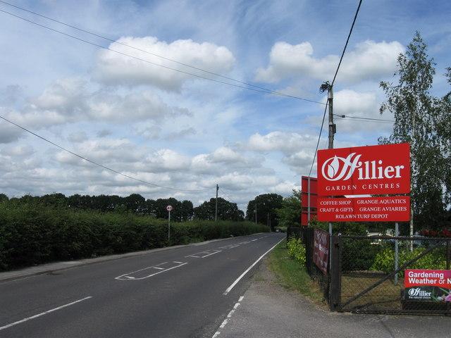 Hillier Garden Centre entrance, Woodhouse Lane