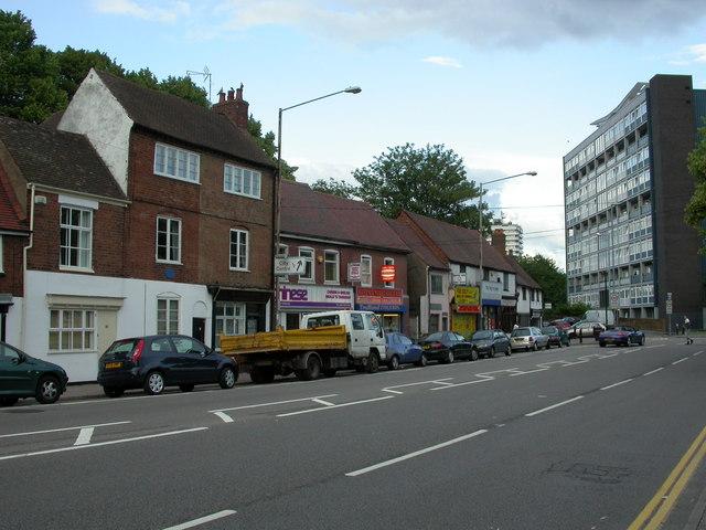 Spon End, shops