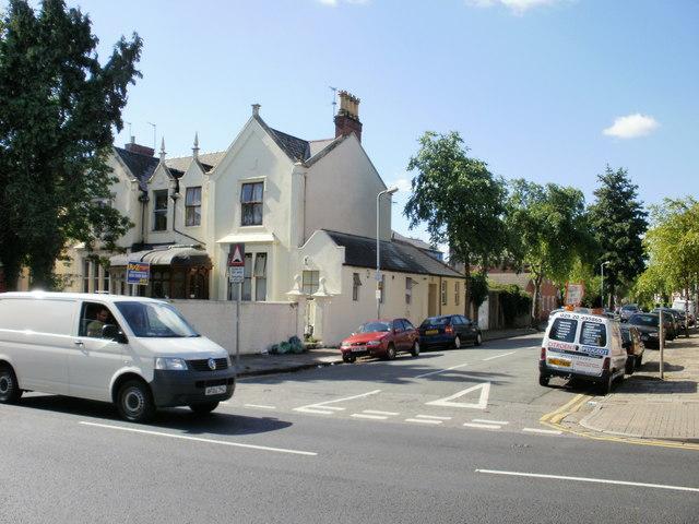Cardiff : corner of Partridge Road and Newport Road