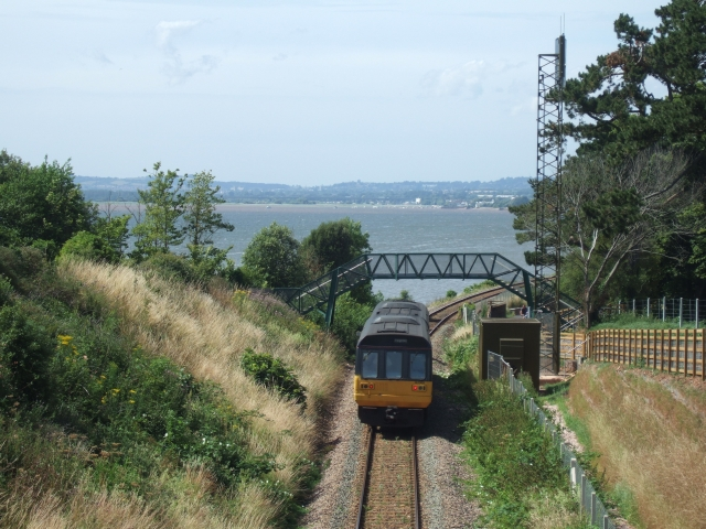 Train to Exeter leaving Lympstone station