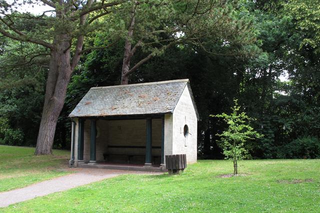 Shelter in Williamson Park