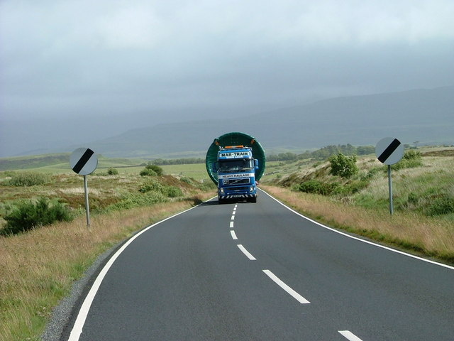 On its way to the wind farm