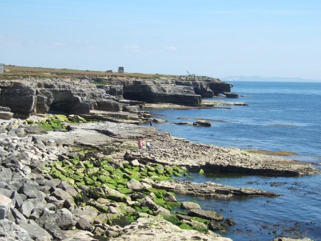 The cliffs near Portland Bill