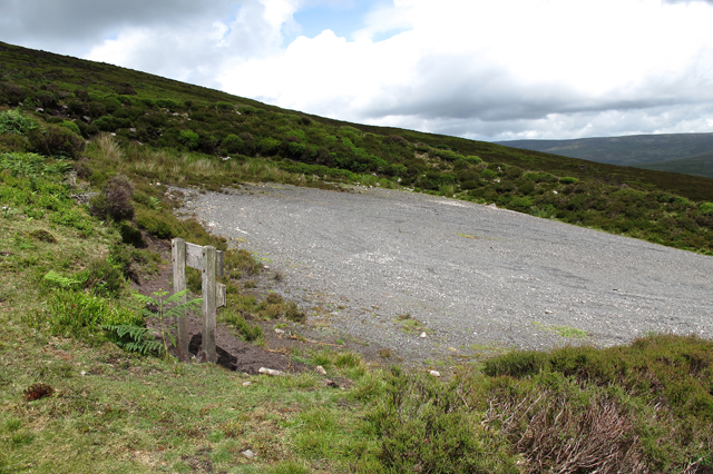 End of the track. Above Black Clough