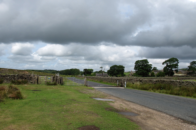 Cattle grid on the Trough Road
