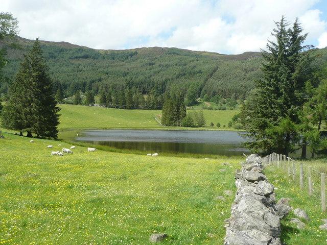 The loch at Straloch