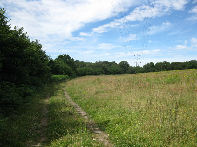 Bridleway under the power lines