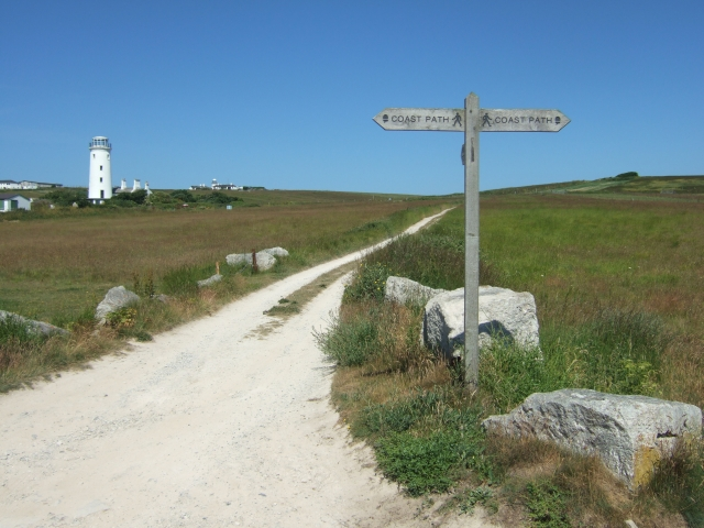 The Old Lower Light and the South West Coast Path