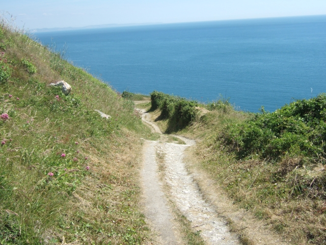 South West Coast Path above Church Ope Cove