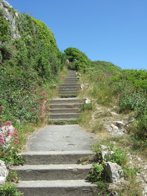 Steps beside Rufus Castle, Easton