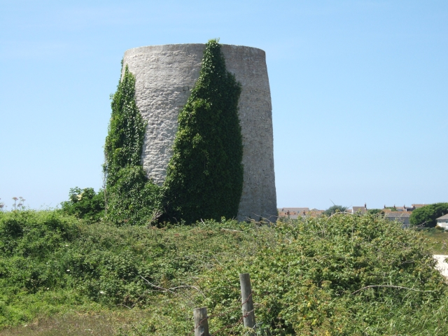 Ruined windmill near Weston