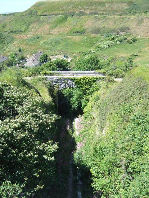 Bridge over the inclined plane from quarry