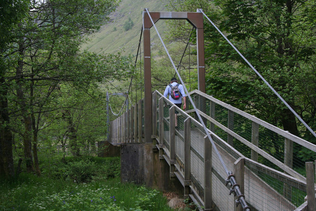 Suspension bridge over River Nevis