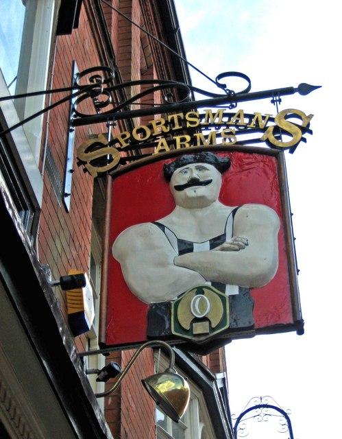 Sportsmans Arms (pub sign), Peakman Street