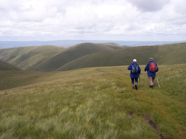 The path from The Calf to Hazelgill Knott