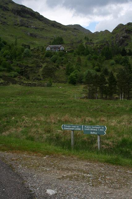 Sign at estate road junction
