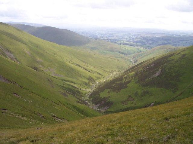 Long Rigg Beck from Windscarth Wyke path