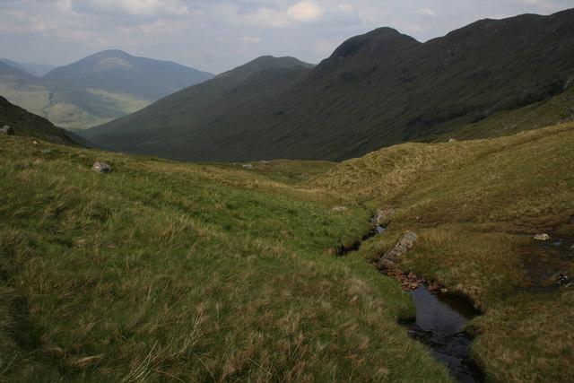 Upper reaches of Gleann Cuirnean