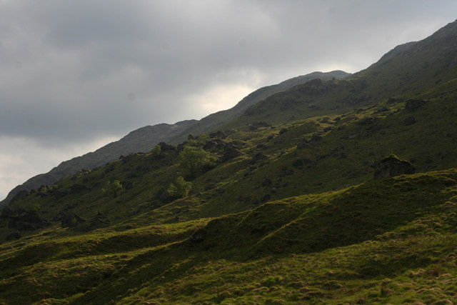 Moraines in Glen Cuirnean