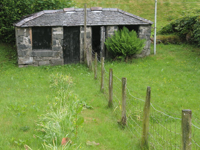 Cottage pig sheds at Ysbyty Ifan