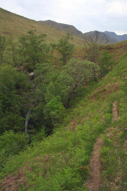 Gorge in lower Glen Cuirnean