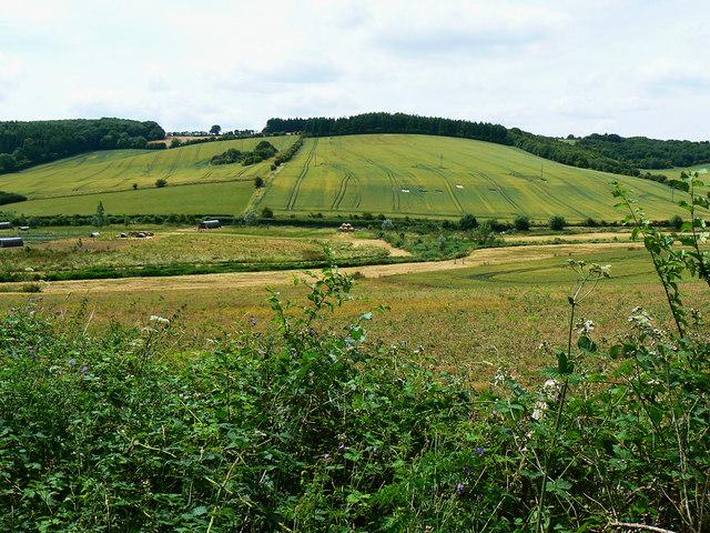 View from a bridleway near Preston