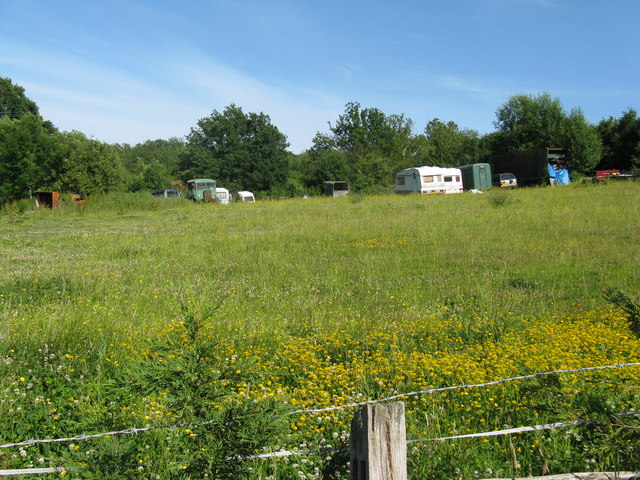 Abandoned vehicles put out to grass at Grove Farm