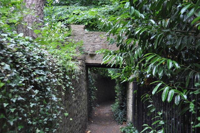 Footpath bridge across footpath