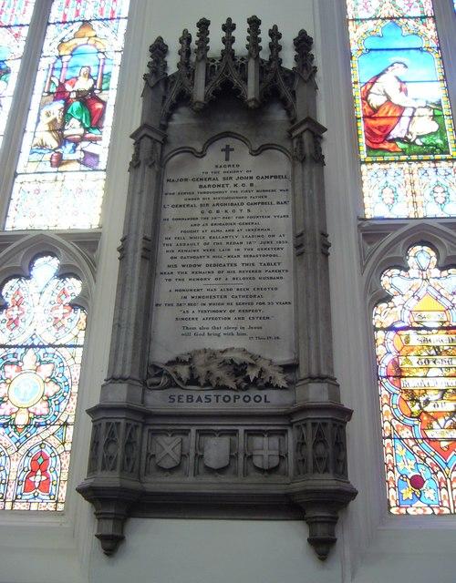 Sir John Campbell memorial, St John's