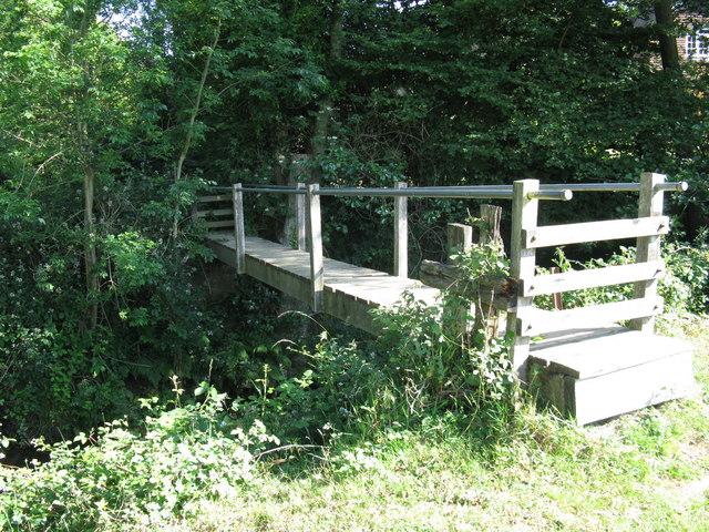 Footbridge over the River Uck near Howbourne Farm