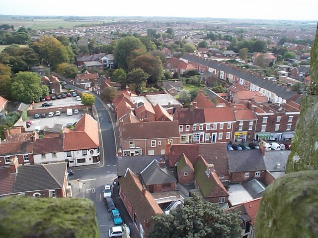 Hedon Market Place from the Church Tower