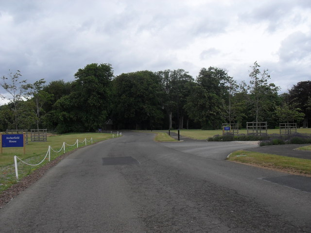 Estate road at Archerfield near Dirleton