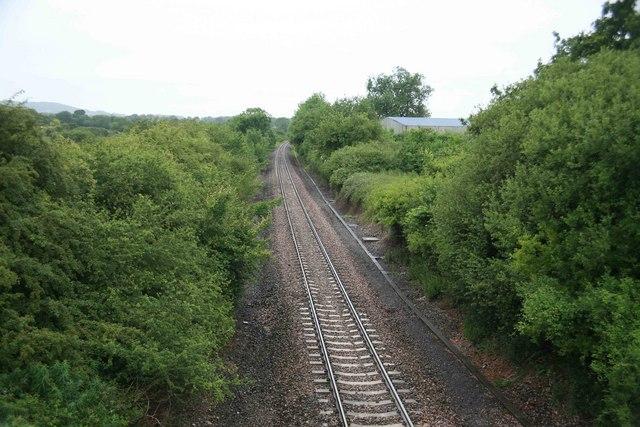 Waterloo - Exeter Railway looking west