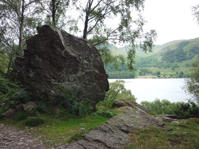 Trackside boulder, Ullswater shore path