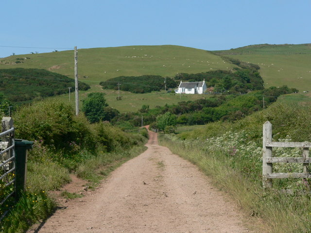 Track to hillside cottage