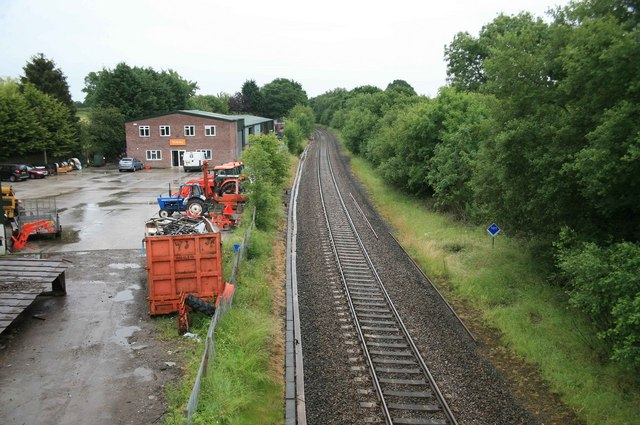 Waterloo - Exeter railway Semley station site