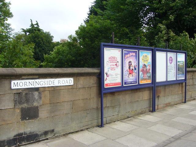 Old railway noticeboards, Morningside