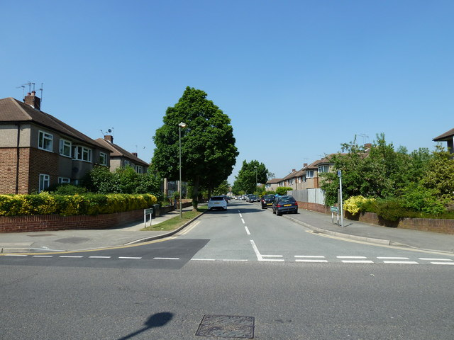 Looking from Shepperton Road into Transmere Road