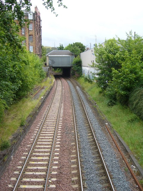 Old suburban railway line, Morningside Station