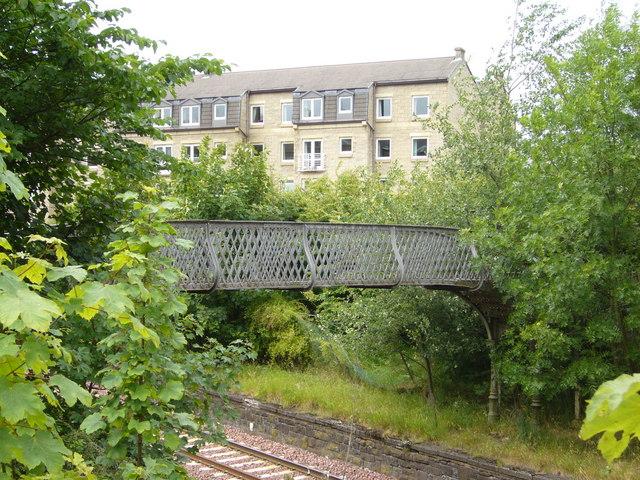 Old railway footbridge  at Morningside Station