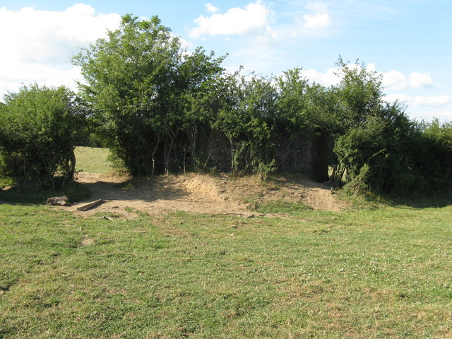 Camouflaged pillbox near the Uckfield line