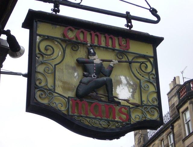 Canny Man's pub sign, Morningside Road