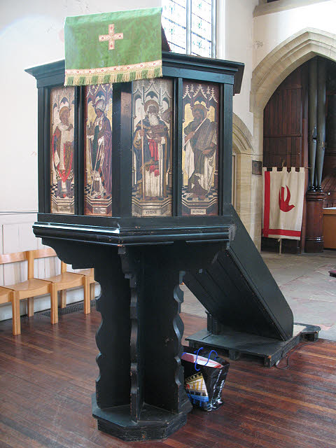 Pulpit of the church of St John the Divine