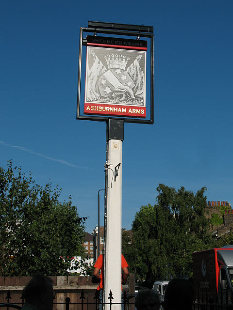 Sign for the Ashburnham Arms, Greenwich