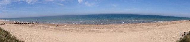 Panorama of Waxham Beach, Norfolk